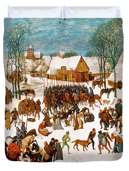 Massacre Of The Innocents Duvet Cover