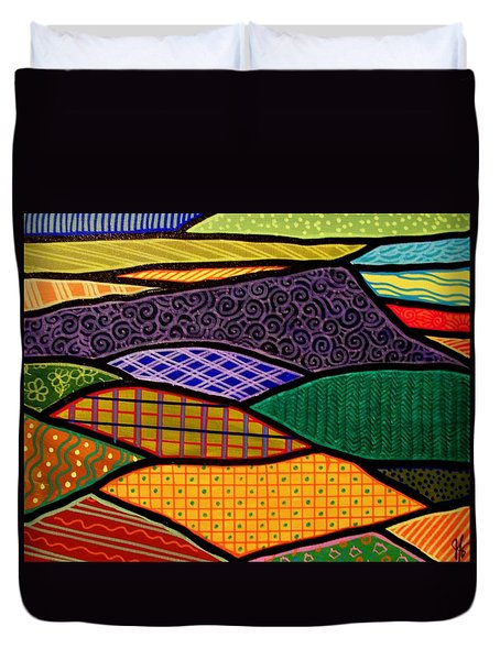 Duvet Cover featuring the painting Massanutten Sunrise  by Jim Harris