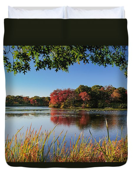 Duvet Cover featuring the photograph Massapequa Nature Preserve by Jose Oquendo