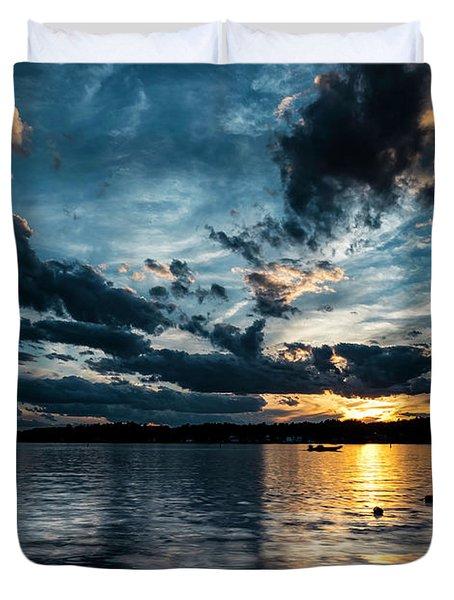 Masscupic Lake Sunset Duvet Cover