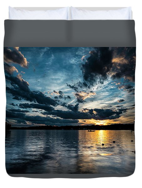 Masscupic Lake Sunset Duvet Cover