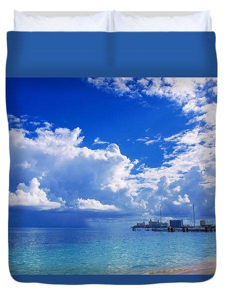Massive Caribbean Clouds Duvet Cover