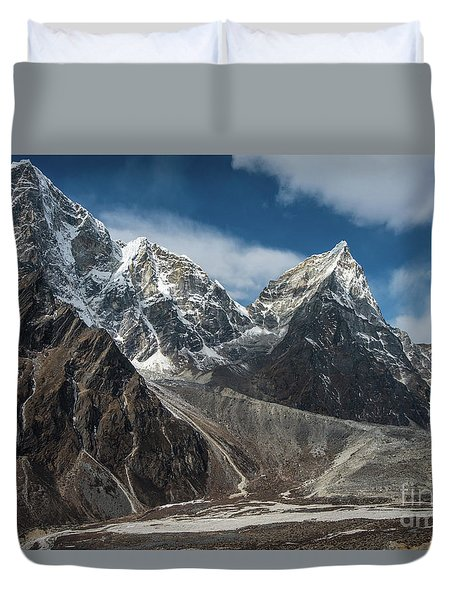 Duvet Cover featuring the photograph Massive Tabuche Peak Nepal by Mike Reid