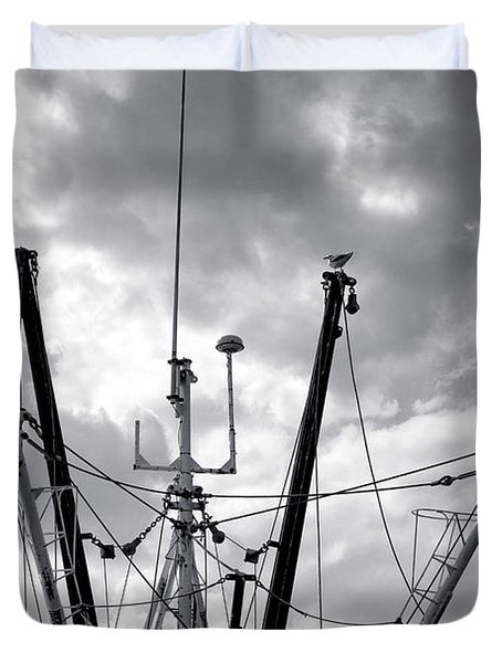 Mast And Booms Duvet Cover