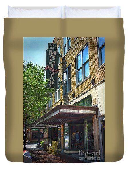 Duvet Cover featuring the photograph Mast General by Skip Willits