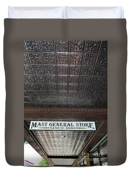 Duvet Cover featuring the photograph Mast General Store II by Skip Willits