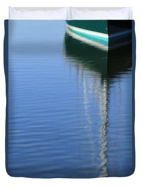 Mast Reflections Duvet Cover by Karol Livote