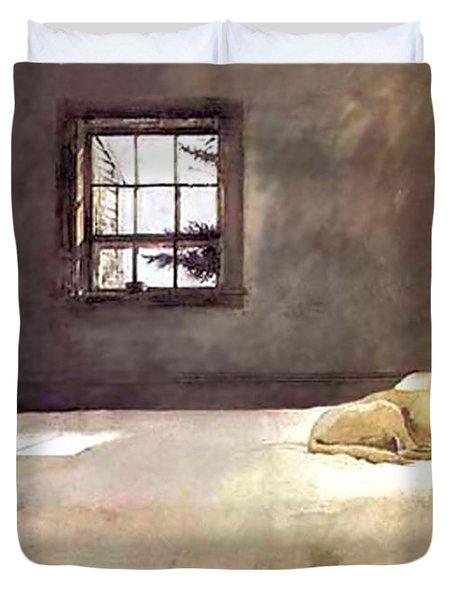 Master Bedroom  Duvet Cover by Andrew Wyeth