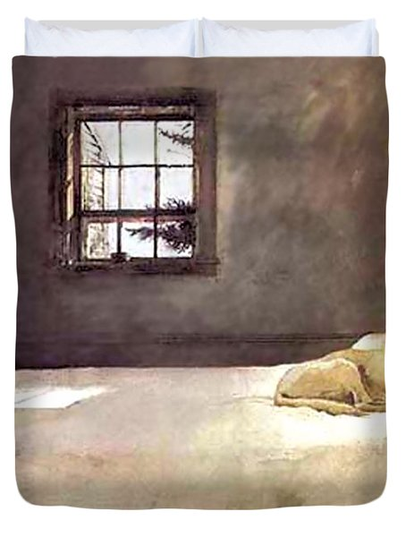 Master Bedroom  Duvet Cover by Andrew Wyeth