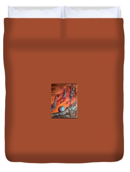 Master Minds Of Mars, The Voices Of Time Duvet Cover