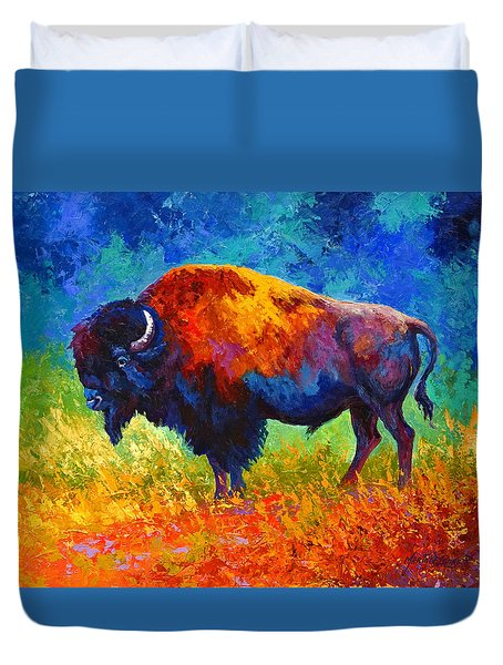 Master Of His Herd Duvet Cover