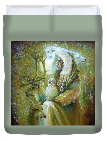 Master Of The Tundra. Duvet Cover