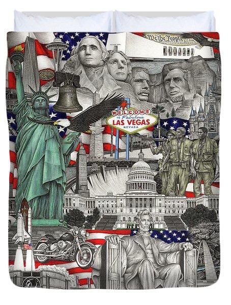 Masterpiece America Duvet Cover