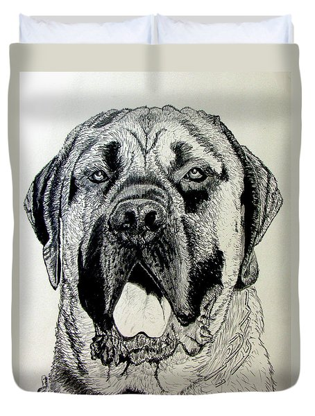 Mastiff Duvet Cover by Stan Hamilton