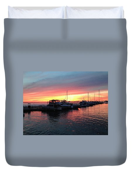 Masts And Steeples Duvet Cover