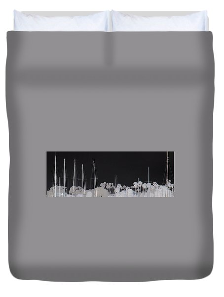 Masts Duvet Cover by Dana Patterson