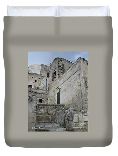 Matera Houses Duvet Cover