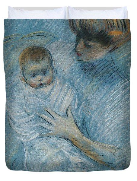 Maternity Duvet Cover by Paul Cesar Helleu
