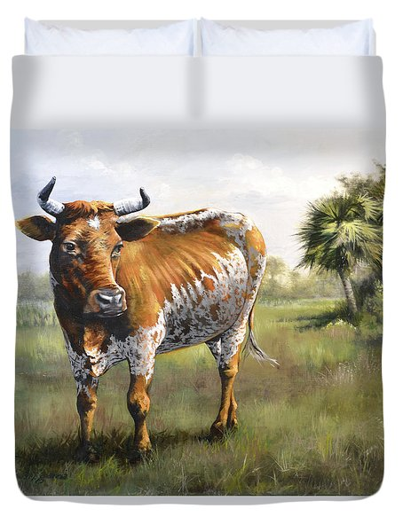 On The Florida Prairie Matilda Duvet Cover