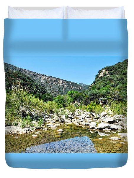 Duvet Cover featuring the photograph Matilija Hot Springs by Kyle Hanson