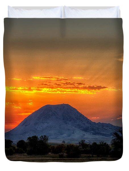 Mato Paha, The Sacred Mountain Duvet Cover