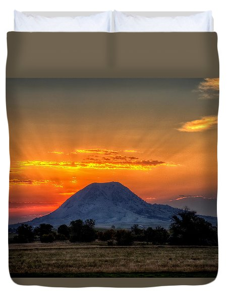 Mato Paha, The Sacred Mountain Duvet Cover