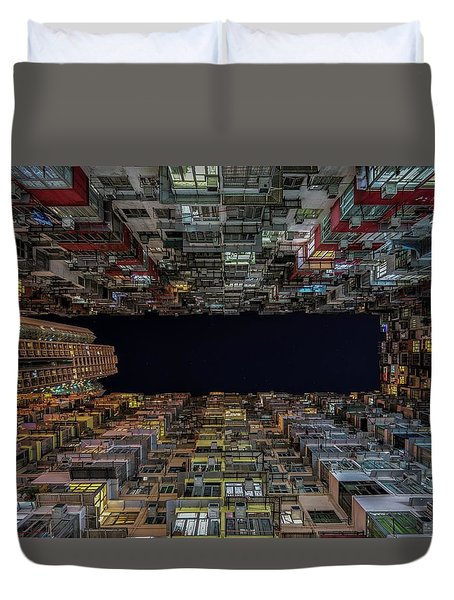 Urban Architecture, Hong Kong Duvet Cover by Urbanexpl0rer