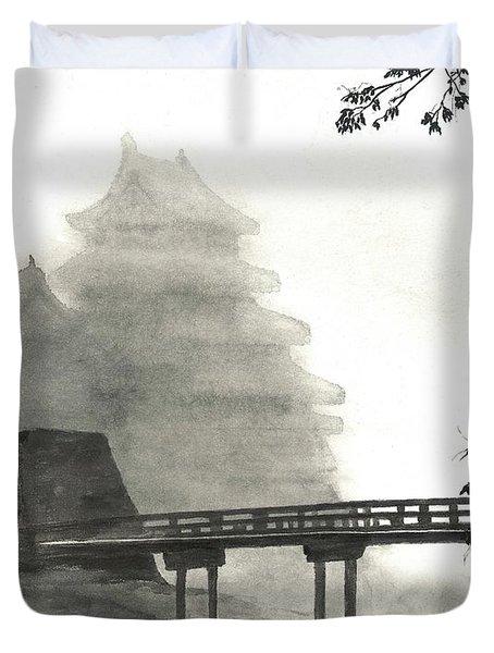 Matsumoto Morning Mist Duvet Cover