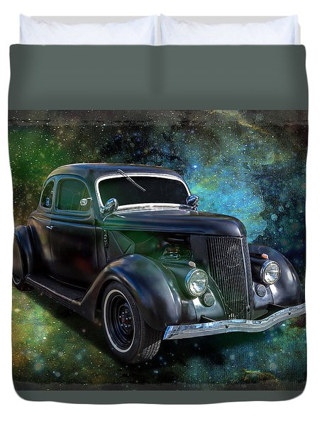 Matt Black Coupe Duvet Cover