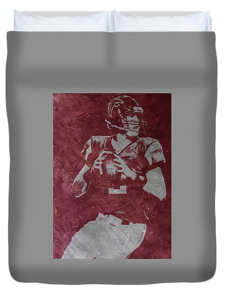 Matt Ryan Atlanta Falcons Duvet Cover by Joe Hamilton