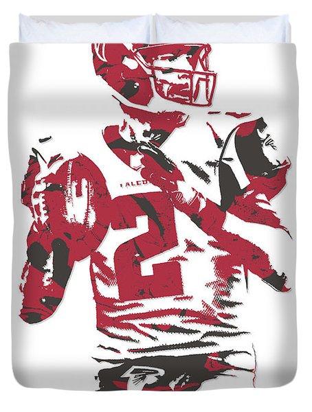 Matt Ryan Atlanta Falcons Pixel Art 7 Duvet Cover