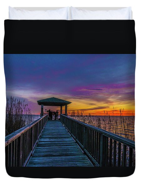 Mattamuskeet Lake Duvet Cover