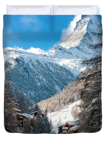 Duvet Cover featuring the photograph Matterhorn  by Brian Jannsen