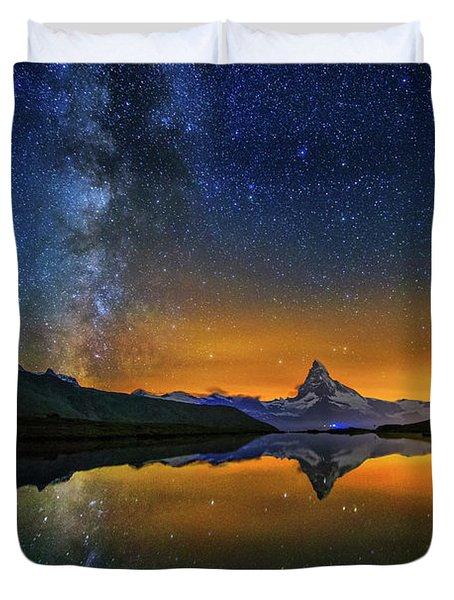 Matterhorn By Night Duvet Cover