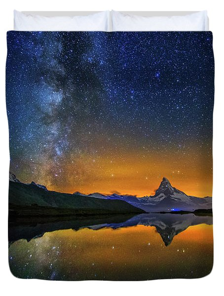 Matterhorn By Night Duvet Cover