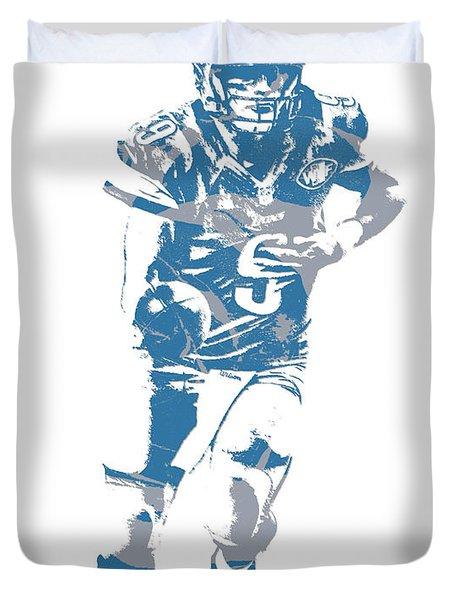 Matthew Stafford Detroit Lions Pixel Art 20 Duvet Cover