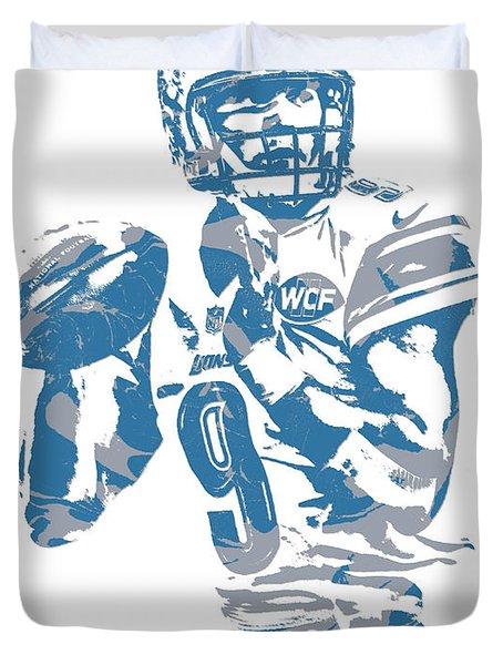 Matthew Stafford Detroit Lions Pixel Art 21 Duvet Cover