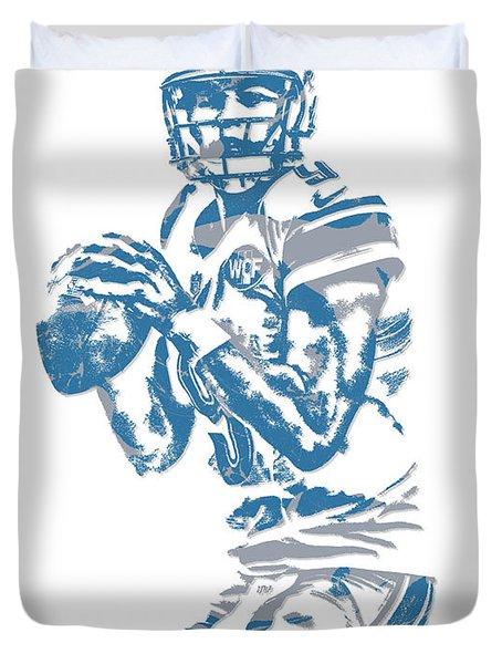 Matthew Stafford Detroit Lions Pixel Art 6 Duvet Cover