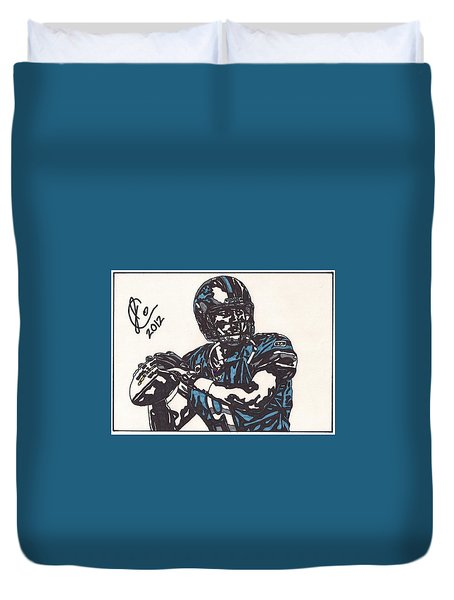Matthew Stafford Duvet Cover by Jeremiah Colley