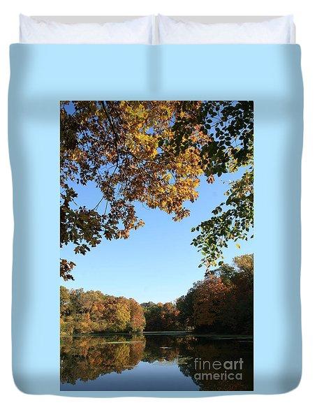 Matthiessen Lake In Autumn Duvet Cover