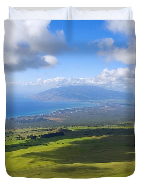 Maui Aerial Duvet Cover by Ron Dahlquist - Printscapes