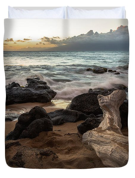 Maui Beach Sunset Duvet Cover