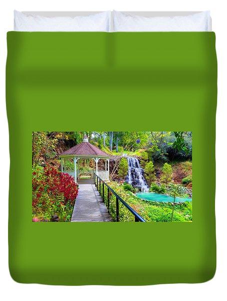 Maui Botanical Garden Duvet Cover by Michael Rucker