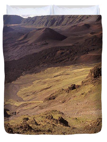 Maui, Haleakala Crater Duvet Cover by Mary Van de Ven - Printscapes
