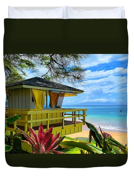 Maui Kamaole Beach Duvet Cover by Michael Rucker