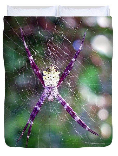 Maui Orbweaver/garden Spider Duvet Cover