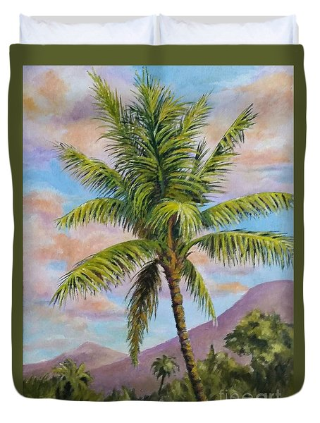 Maui Palm Duvet Cover
