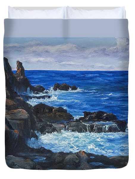Maui Rugged Coastline Duvet Cover by Darice Machel McGuire