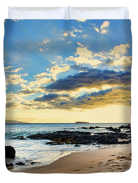 Maui Sunset Panorama Duvet Cover