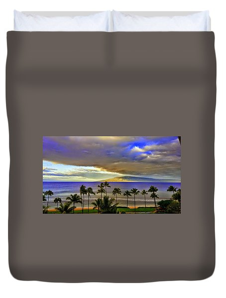 Maui Sunset At Hyatt Residence Club Duvet Cover